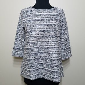 LOFT Top Upholstery Textured Colorful 3/4 Sleeve